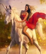 3 D Horse Girl