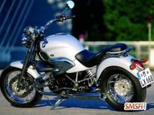 BMW White Motorcycle