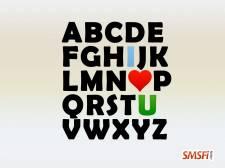 Alphabet Heart Love
