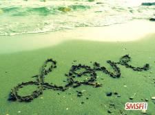 Beach Sand On Lettering Love