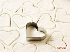 Flour in Love Heart