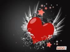 Grey Love Heart