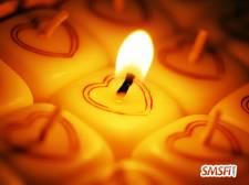 Heart Candles Light
