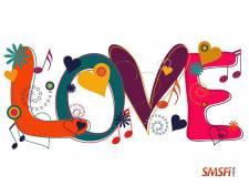 Love Text in Hippie
